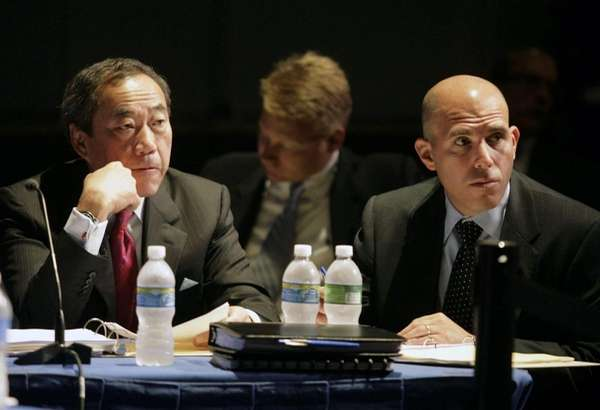 Hempstead: New York Islanders owner Charles Wang with
