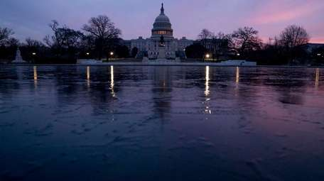 The Capitol at sunrise Feb. 9, 2018, in