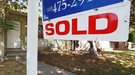 The number of sold signs outside homes has
