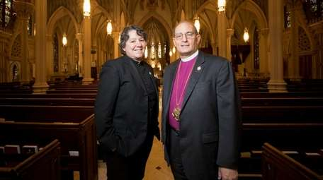 The Rev. Lawrence Provenzano, right, bishop of the