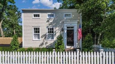 The Sag Harbor home, originally built in the