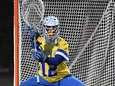 Hofstra goalie Jack Concannon protects the net against