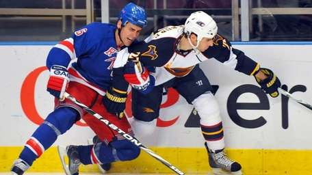 With Wade Redden struggling, the Rangers may look