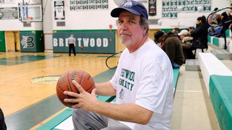 John Rueb in the Brentwood High School gym