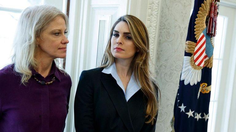 White House senior adviser Kellyanne Conway, left, with