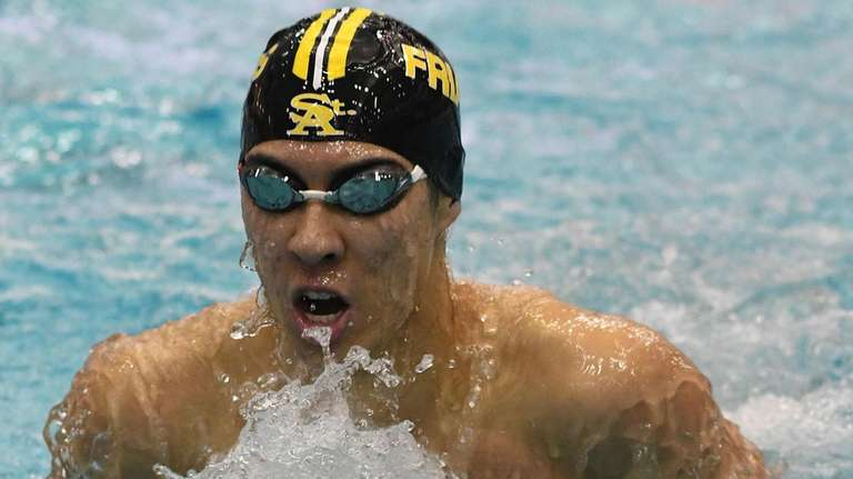 Michael Chang of St. Anthony's surfaces during the