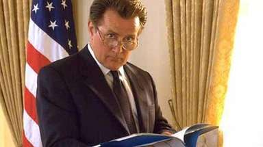 Martin Sheen as President Josiah Bartlet in NBC's