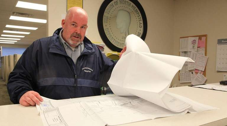 Town Building Commissioner John Niewender, seen here on