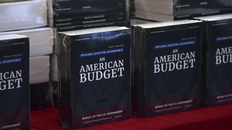 The President's Budget is on display after arriving