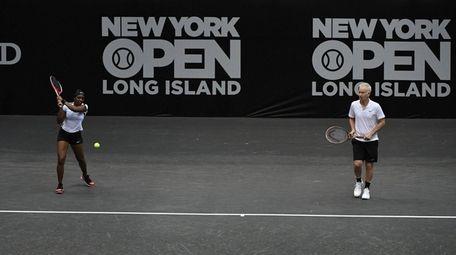 John McEnroe and Sloane Stephens play against James