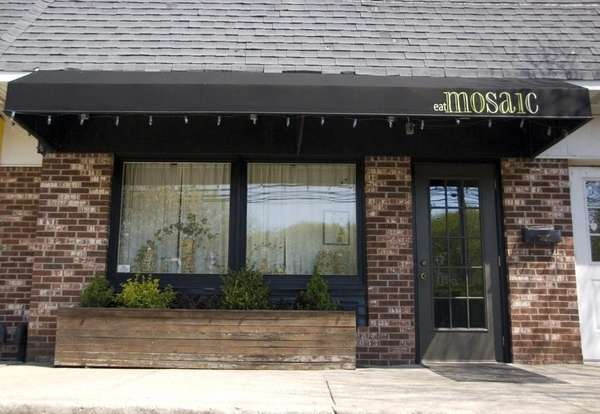 The exterior of Mosaic Restaurant at 418 Route