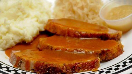 Churchill's Restaurant serves simple meals like roast loin
