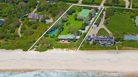 The oceanfront home on Gin Lane in Southampton