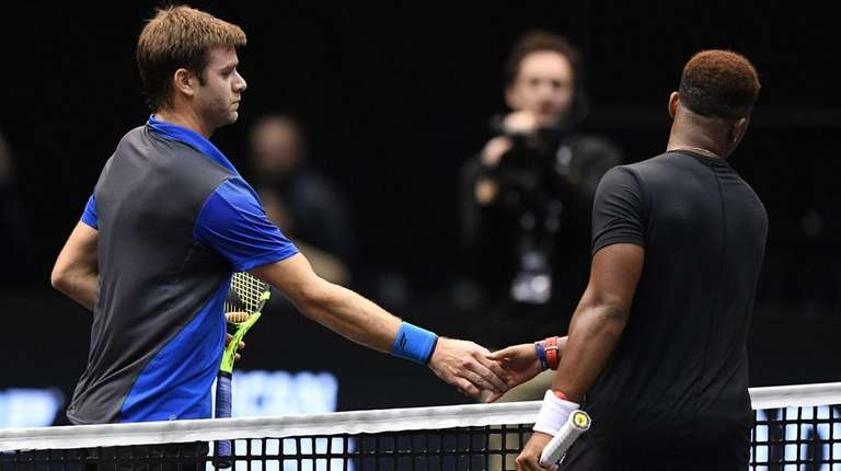 Ryan Harrison meets Donald Young after he wins