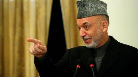 Afghanistan's President Hamid Karzai on Dec. 20, 2009