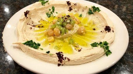 Hummus is a menu highlight at Petra Grill,