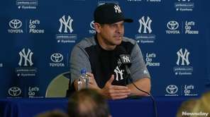 Aaron Boone talks about his first spring training