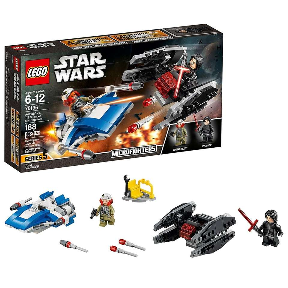 Includes Kylo Ren and A-Wing Pilot minifigures, each