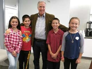 Actor and author Henry Winkler with Kidsday reporters