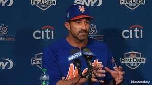 Mets manager Mickey Callway spoke during spring trainingon
