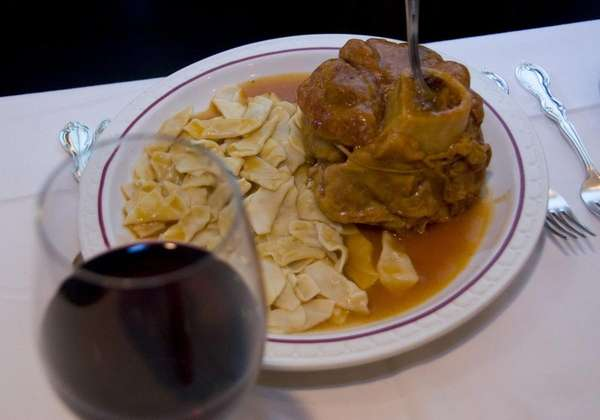 A serving of Osso buco.