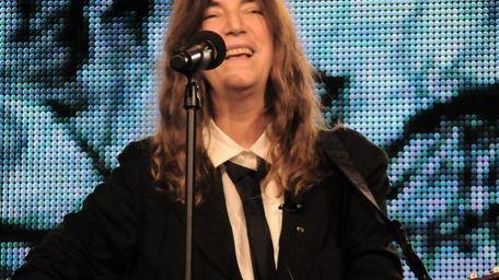 Legendary rocker Patti Smith is scheduled to peform