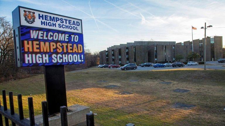 Hempstead High School on Tuesday, Feb. 13, 2018.