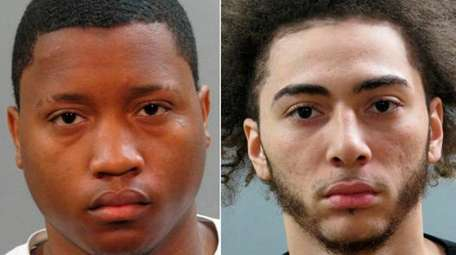 Jahmani Harleston, left, and D'Andre Dogostiano were arrested