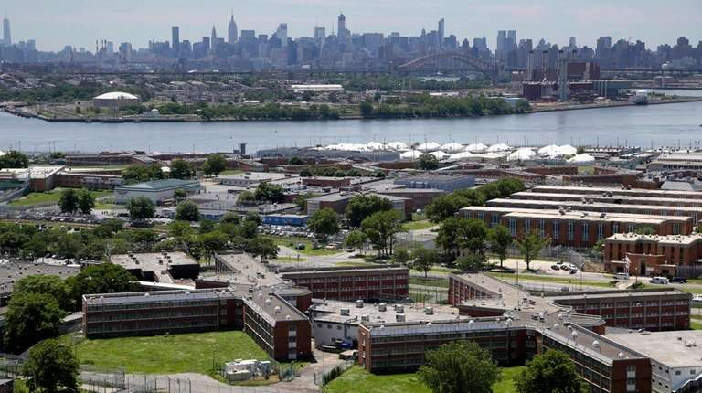 The Rikers Island jail complex, which has been