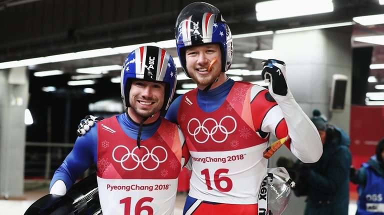 USA's Justin Krewson and Andrew Sherk following their