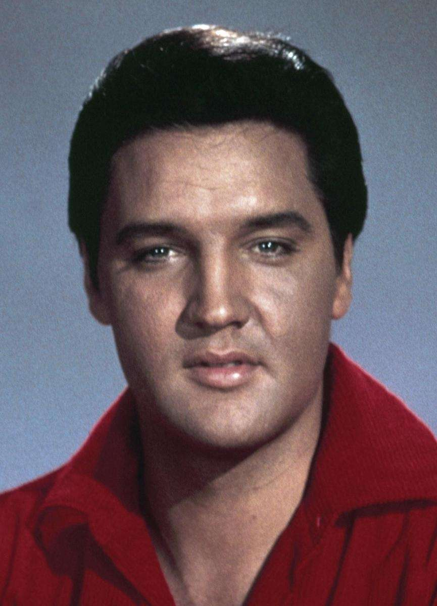 Singer and actor Elvis Presley.