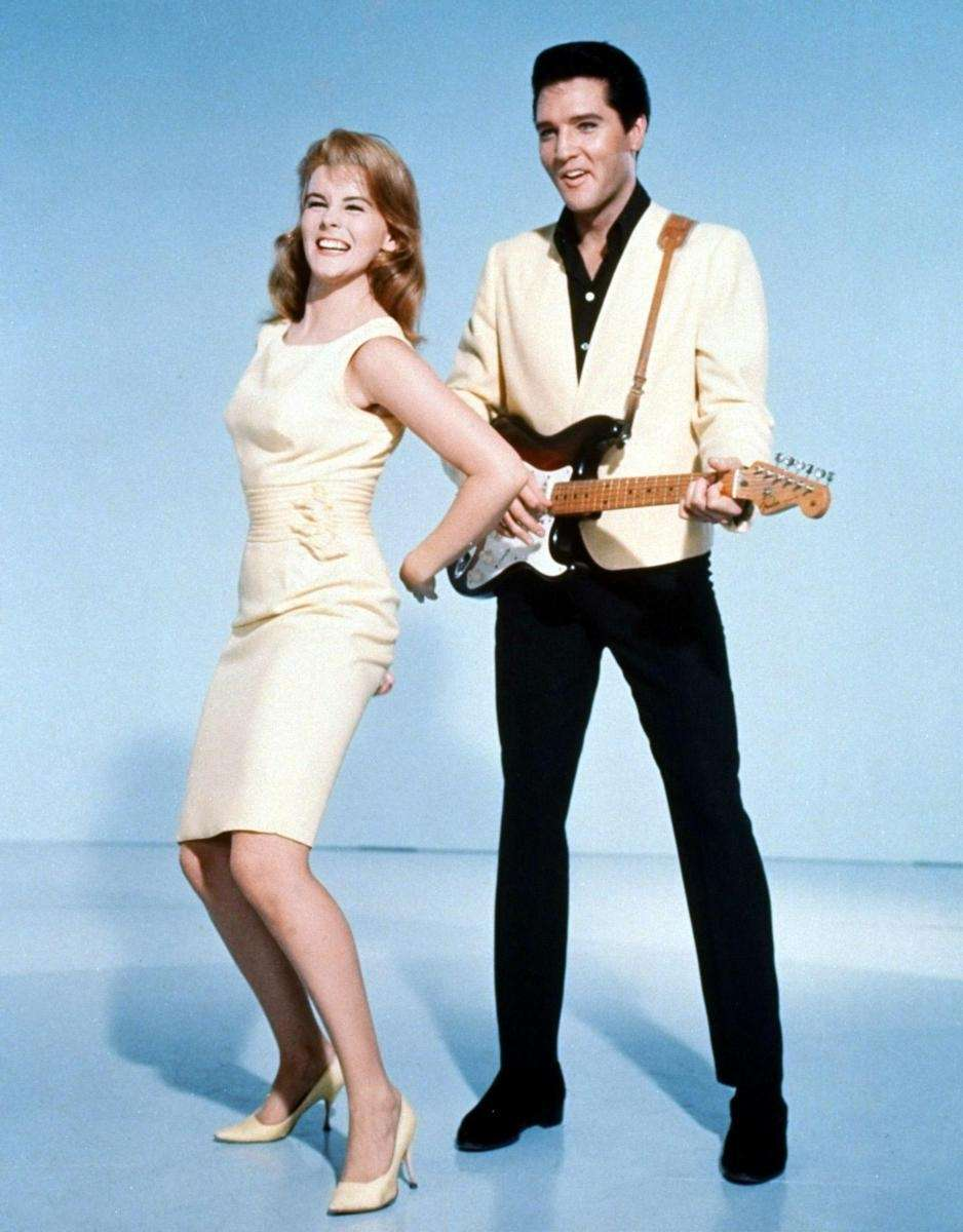 Elvis Presley and actress Ann-Margret in a publicity