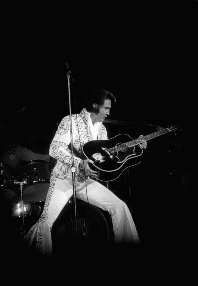 Elvis Presley performing on June 22, 1973, at