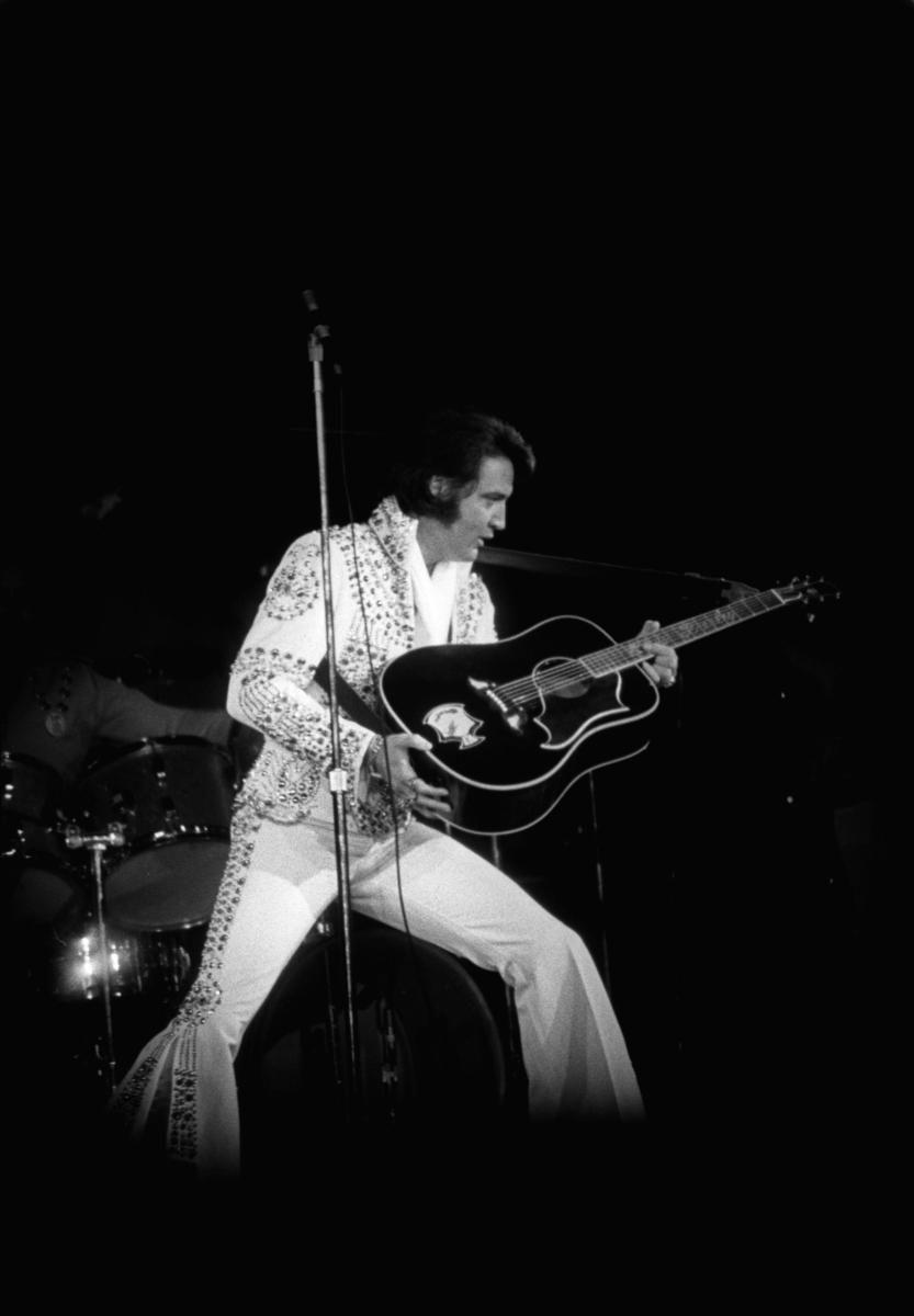 Elvis Presley performing on June 22, 1973, at