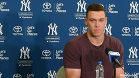 Yankees rightfielder Aaron Judge, last season's AL Rookie