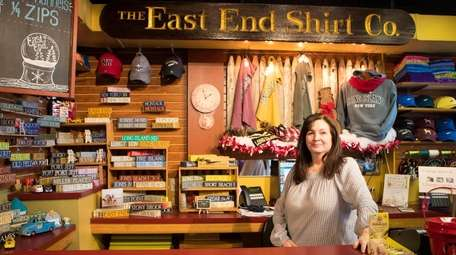 Joy Pipe, owner of East End Shirt Company,