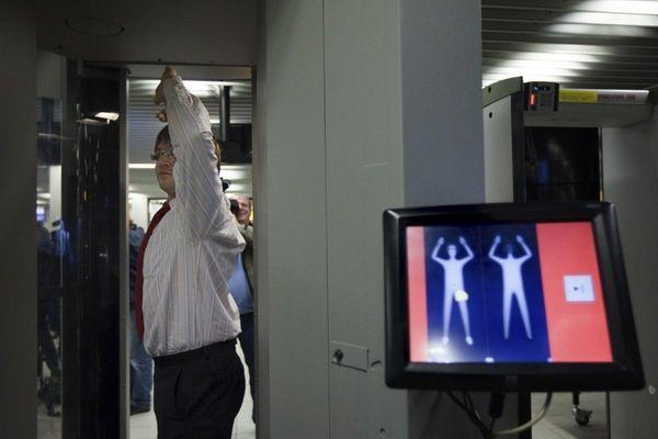 Undated file photo of a body screening machine