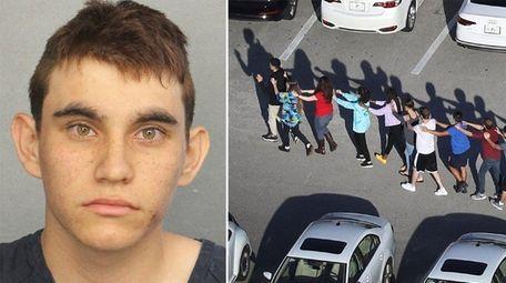 Nikolas Cruz, left, is accused of killing 17