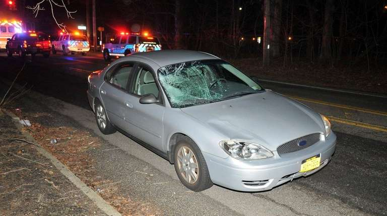 A teenage pedestrian was hit by a car