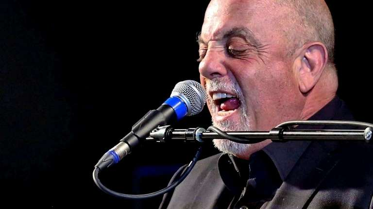 Billy Joel, shown at a surprise appearance at
