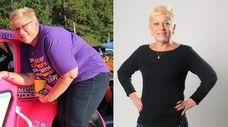 Karyn Slepian, 54, of Dix Hills, at left