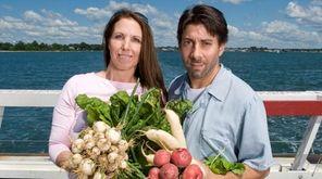 James Beard semifinalists Elizabeth Ronzetti and Adam Kopels,