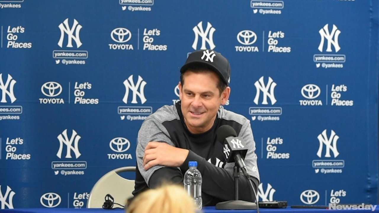 Yankees manager Aaron Boone discussed the strength of the team