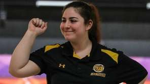 Francesca Rossi of St. Anthony reacts after a strike at