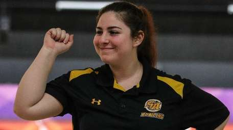 Francesca Rossi of St. Anthony reacts afterastrike at