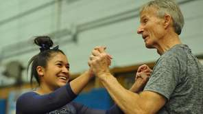 Jessica Lopez of Plainview-Old Bethpage JFK gets congratulated