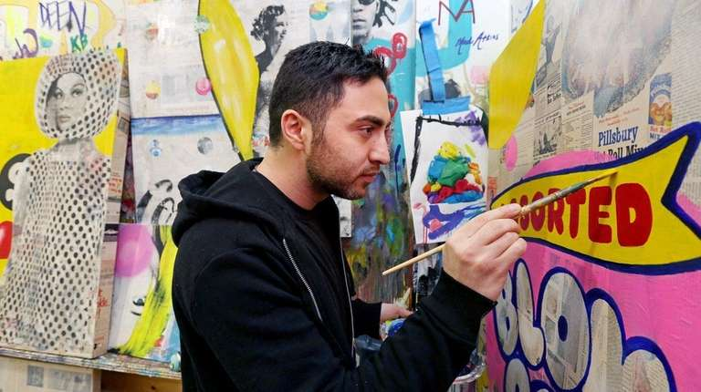 Anavim paints in his Chelsea studio. His work