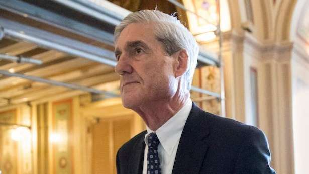 Special counsel Robert Mueller departs a meeting on
