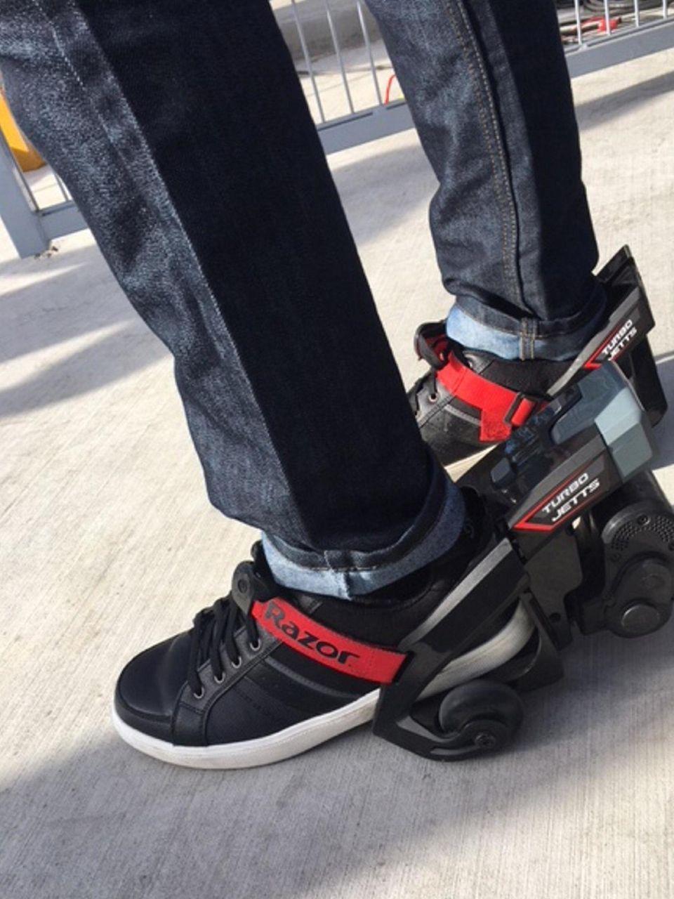 The Razor Turbo Jetts are electric motorized heel