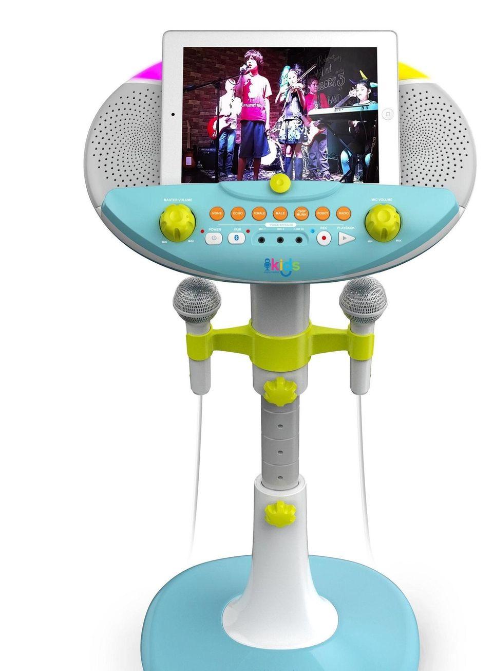 With Singing Machine's Kids Karaoke Pedestal, kids can